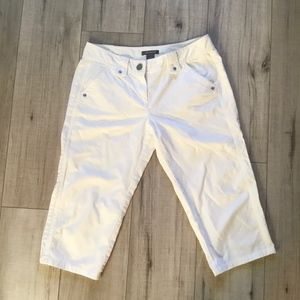 Ann Taylor Lindsay white crop pants